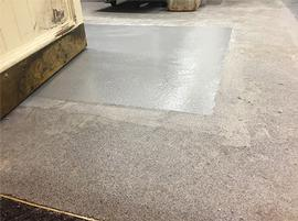 Resin flooring. Industrial flooring specialists UK. Trust Construction. Resin floor patch 3.