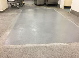 Resin flooring. Industrial flooring specialists UK. Trust Construction. Resin floor patch 2.