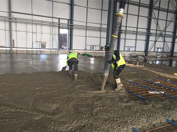 Industrial flooring specialists UK. Concrete flooring, resin flooring and drainage and formworks. Trust Construction.