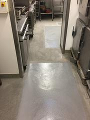 Resin flooring. Industrial flooring specialists UK. Trust Construction. Resin floor patch 1.