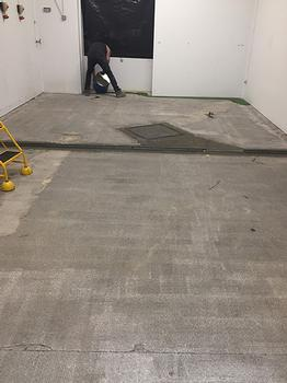 Industrial flooring specialists UK. Resin flooring. Trust Construction. Resin floor in progress.